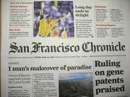 SAN FRANCISCO CHRONICLE: WEEKDAY EDITION:表紙