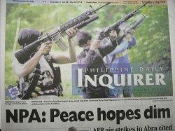 PHILIPPINE DAILY INQUIRER(フィリピン デイリー インクアイアー) 表紙