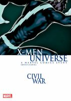X-MEN ユニバース:シビル・ウォー:表紙